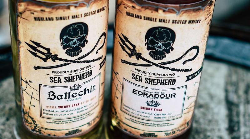 Edradour und Ballechin: Kirsch Whisky prouldy supports Sea Shepherd