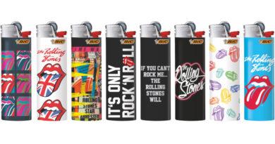 BIC und die Rolling Stones: Feuer und Flamme für Rock'n'Roll / Neue Lizenz-Dekore
