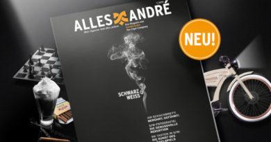 """""""Schwarz-weiß"""": Neue Ausgabe vom Alles André Magazin"""
