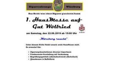 """Würzburg """"RAUCHT"""" – Die 1. Hausmesse auf Gut Wöllried"""