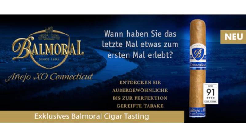"""Balmoral on Tour - Hausmesse im Whisky & Cigar Salon in Gronau und """"Würzburg raucht"""" mit Balmoral auf Gut Wöllried"""
