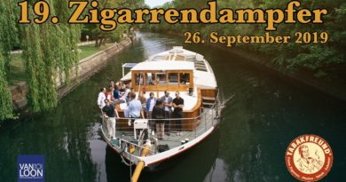 1. Zigarrendampfer mit Special Guest Rocky Patel am 26. September 2019 auf der Spree