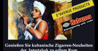 Cubanischer Abend am 21. November mit den cubanischen InterTabac-Highlights