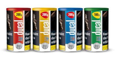 Ducal Classic Cigarette Tobacco / Stopftabak-Bestsellern jetzt im neuen Dosen-Design