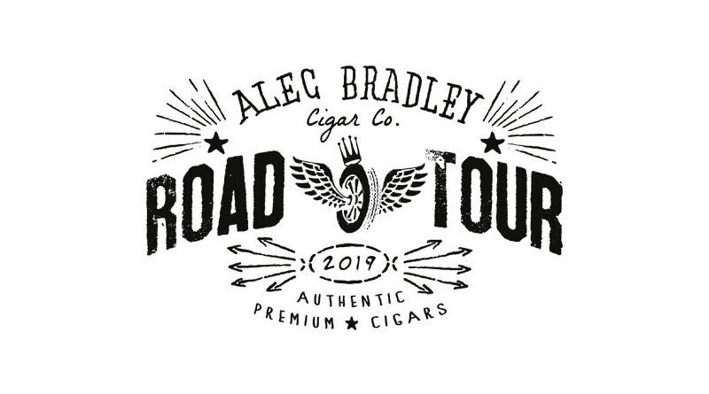 """Alfred Vogel begrüßt im """"Landeplatz für Geniesser"""" die ALEC BRADLEY ROAD TOUR 2019 mit Gottfried Brückner (Wolfertz GmbH)"""