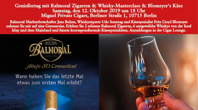 BBG = Berliner Balmoral Genießertag bei Miguel Privat Cigars am 12. Oktober