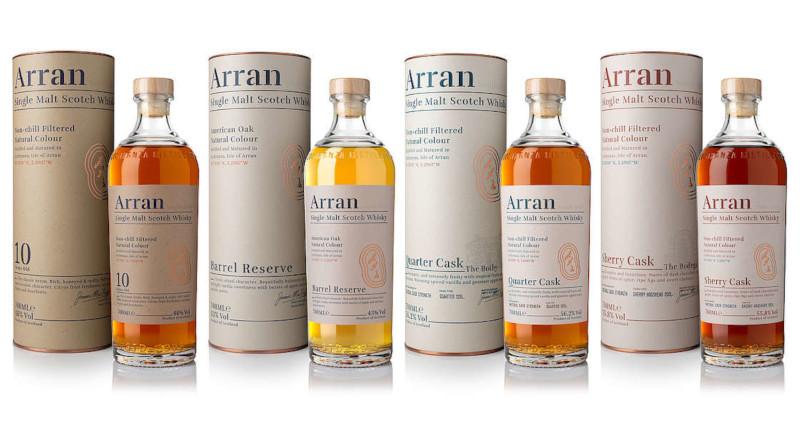 Isle of Arran Distillery präsentiert neues Design und neue Whiskys