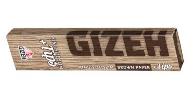 """Neues Kombi-Pack """"GIZEH King Size Slim + Tips"""" - jetzt auch mit braunen Blättchen"""