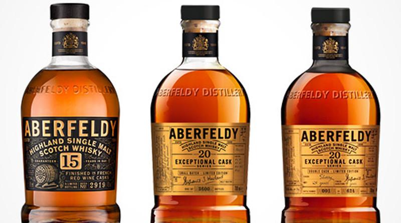 Drei exklusive Aberfeldy Limited Editions