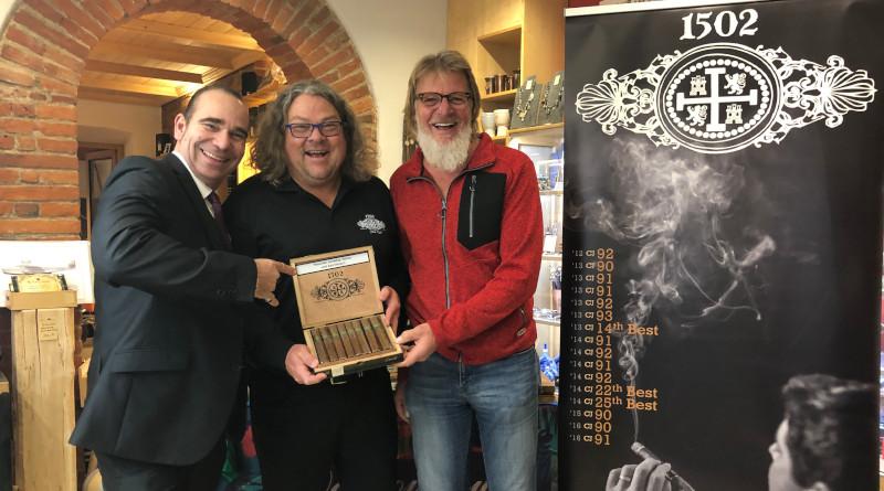"""Und Cigarren mit viel Geschichte: Die """"1502 Nicaragua"""" ist in Deutschland gelandet mit dem Team Kleinlagel on Tour und mischt das Cigarrenangebot auf"""