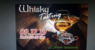 """Exquisite Whisky-Tastings im """"Landeplatz für Genießer"""""""