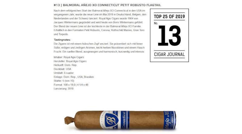Beste Cigarren: Balmoral erneut unter den Top 25