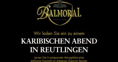 Balmoral Genießerabend in Reutlingen am 20.02.2020