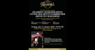 Ankündigung: Balmoral Genießerabend in Crailsheim