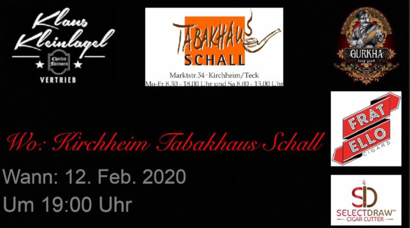 Komm doch mal rüber: Gurkha-Cigarren laden zum Genuss-Flirt nach Kirchheim/Teck ein