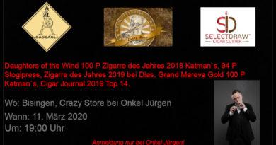 Casdagli (Bespoke) Cigars besucht den Crazy Store in Bisingen