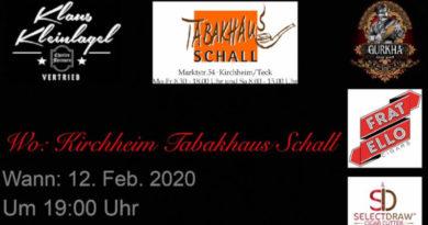 Tabakhaus Schall lädt mit Gurkha nach Kirchheim unter Teck ein