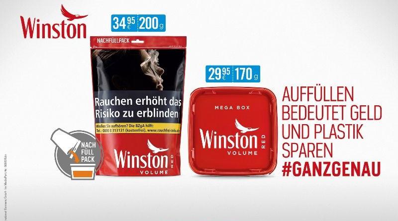An alles gedacht: Winston füllt leere Tabakboxen wieder auf