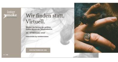 """""""intersmoke supported by smokersnews"""" – """"Wir finden statt. Virtuell."""""""