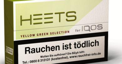 """HEETS YELLOW GREEN SELECTION"" – ausgereifte Tabakmischung mit Zitrus-Aromanoten"